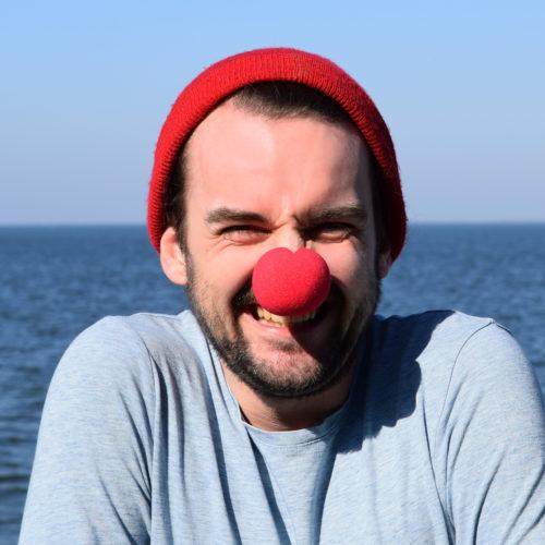 10 fröhlicher Clown